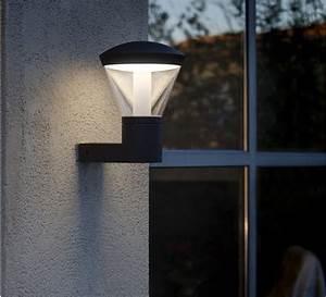 Luminaire Exterieur D Angle : applique murale d 39 ext rieur shelby noir h27cm faro ~ Edinachiropracticcenter.com Idées de Décoration