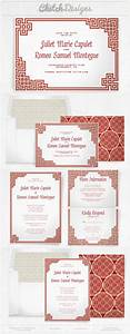oriental chinese wedding invitation and save the date With chinese wedding invitation envelope template