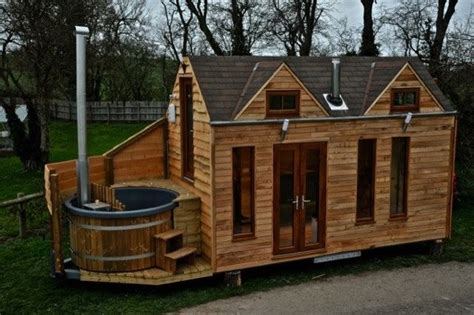 Man Designs And Builds Mobile Hot Tub Tiny House
