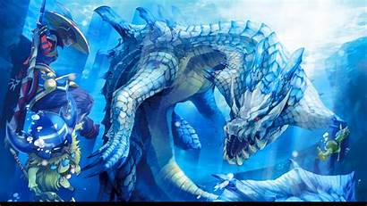 Godzilla Monster Hunter Gaming Wallpapers Snow Animated