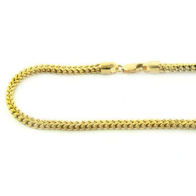 solid yellow white gold franco chain  inmm