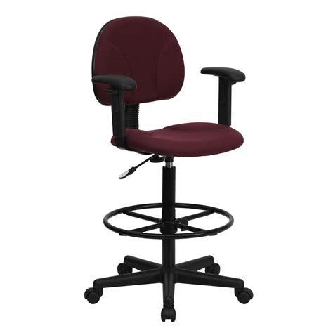 flash burgundy fabric multi functional ergonomic drafting
