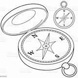 Compass Bussola Magnet Kompass Venti Malbuchseite Schwarzweiss Kleurende Boekpagina Windroos sketch template