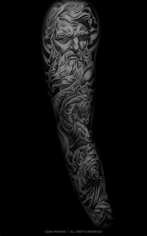 Monarc Studios | Collection | Original Sleeve Tattoos | Tattoos, Sleeve tattoos, Zues tattoo