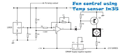 Fan Control Temperature Using Sensor Power Amplifier