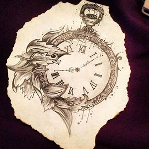 Pocket Watch, Pencil drawing | Caitlin-Rose x | Things to ...