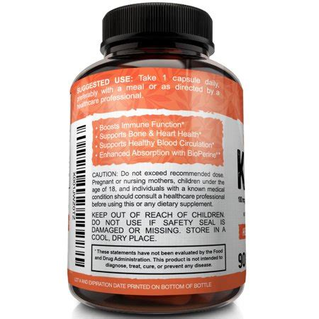 Multiple scientific studies on postmenopausal women suggest that combined d3 / k2 supplements can improve bone density, possibly reducing the risk of fractures as. Vitamin K2 + D3 with Bioperine, 90 Capsules   Walmart Canada