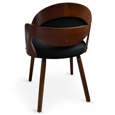 chaise noir et bois chaise scandinave noir et bois manu lot de 2 pas cher