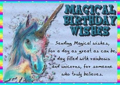 Unicorn Birthday Wishes Magical Happy Card Greetings