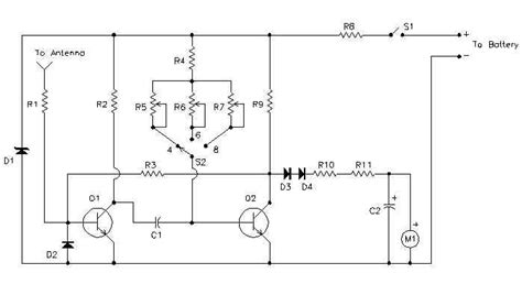 Simple Auto Tachometer Circuit Diagram
