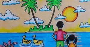 Gambar Mewarnai Gradasi Crayon Oilpastel Chicken Download Menggambar