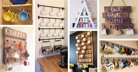 coffee mug organization ideas  designs