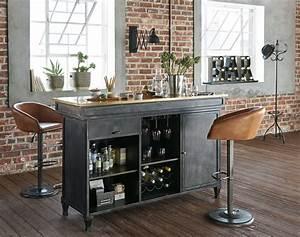 Sedia Da Bar Industriale In Pelle Color Cammello Gama