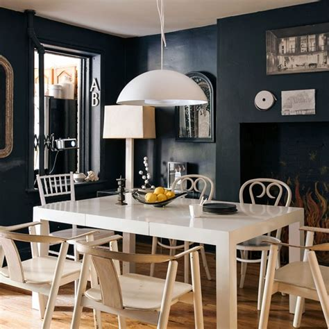 Dramatic Dining Room With Blackboard Wall  Dining Room