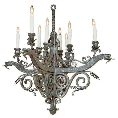 Vintage Wrought Iron Chandelier by Vintage Wrought Iron Chandelier At 1stdibs