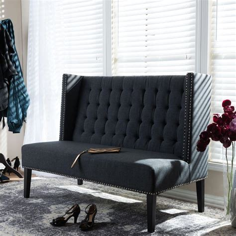 Grey Banquette Bench by Baxton Studio Owstynn Gray Bench 28862 4156 Hd The Home