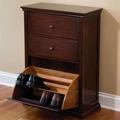 Images Of Shoe Racks Cabinets by The Hideaway Shoe Cabinet Hammacher Schlemmer