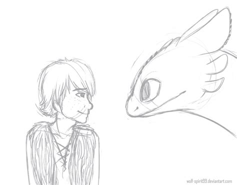 Hiccup And Toothless By Wolf-spirit99 On Deviantart