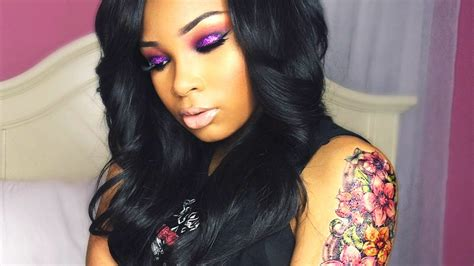 grunge glam purple glitter aaliyahjay youtube