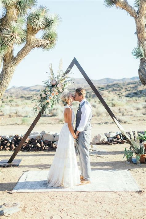 Bohemian Wedding Triangle Ceremony Arch Spell And The