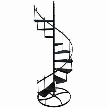 Spiral Clipart Staircase Stairs Iron Winding Wood