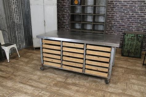 industrial kitchen furniture industrial kitchen island vintage steel table storage kitchen unit