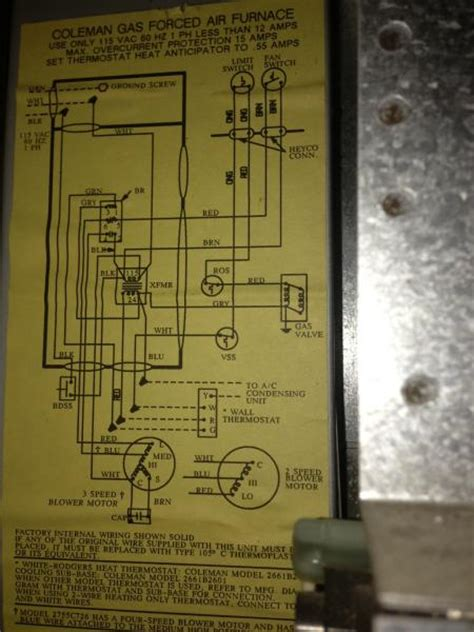Rewiring Old Coleman Furnace For Filtrete Thermostat