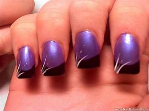 Purple nail design designs art