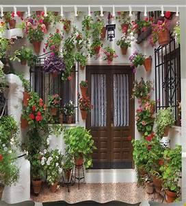 Garden, Patio, Villa, Scene, Flowers, Greenery, Custom, Graphics