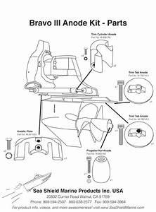 Mercruiser Bravo 3 Zinc Anode Kit