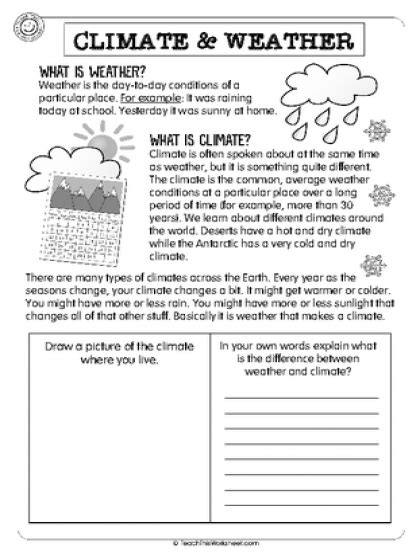 climate weather yr 3 seasons climate worksheets