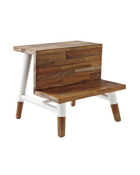 Shower Step Stool by Teak Step Stool Stools Serena And