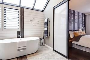 salle de bain renovee fenetre rehausseemartine bourdon With porte de douche coulissante avec architecte interieur renovation salle de bain