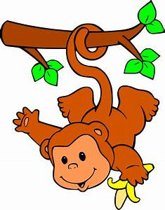 Hanging Monkey Template - Cliparts.co