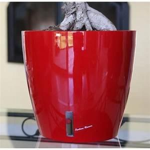 Pot De Fleur Rouge : riviera pot brillant eva avec r serve d 39 eau diametre 36 cm rouge 244725 ~ Melissatoandfro.com Idées de Décoration