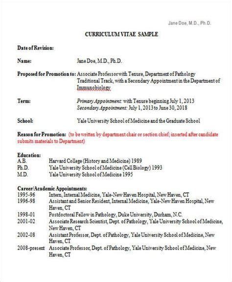 medical curriculum vitae templates