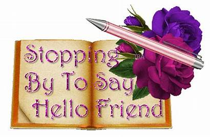 Hello Say Friend Glitter Friends Dropped Stopping