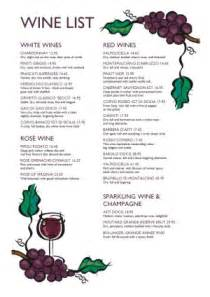 Free Wine List Menu Template
