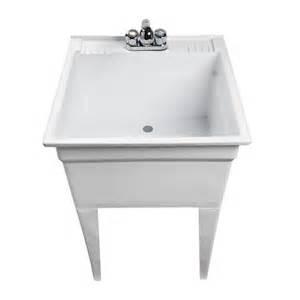 Mustee Utility Sink With Legs And Faucet by Free Standing Laundry Sinks