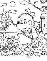 Coloring Pages Garden Watering Bear Sister Flower Printable Bug Herbie Getdrawings sketch template