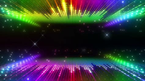 led disco wall stock footage 3644240