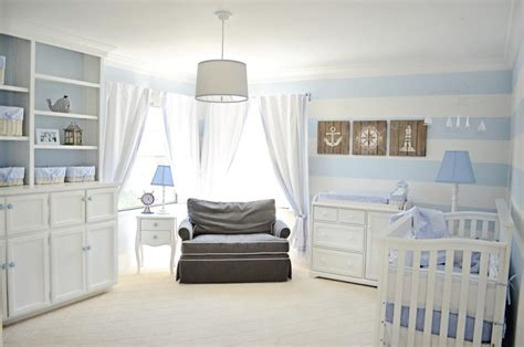 contemporary cribs for babies lovely powder blue and white nautical baby boy s nursery