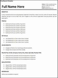 Job resume sample free resume templates for Free resume examples for jobs