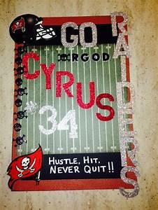 Football Homecoming Locker Poster