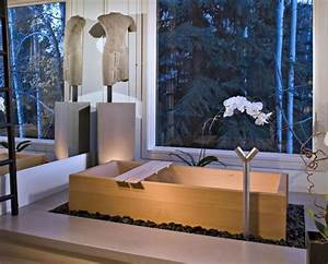 La salle de bain deco zen d39inspiration japonaise for Salle de bain design avec bougie décorative oriental