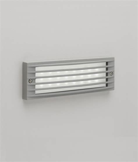 painted silver led recessed wall light