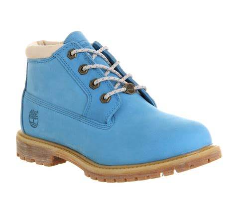 light blue timberlands timberland nellie chukka waterproof boots blue