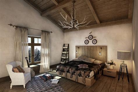 chambre style chalet de montagne déco chalet montagne 99 idées pour la chambre à coucher