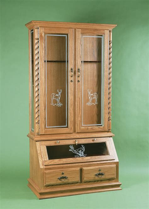 wooden gun cabinets plans  woodworking