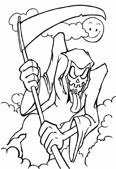Coloring Pages Scary Monster Cliparts Halloween Printable
